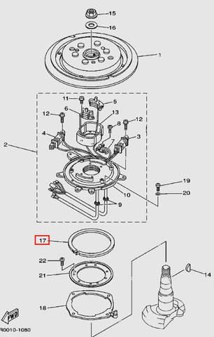 Держатель основания статора для лодочного мотора Т30 Sea-PRO (8-17)