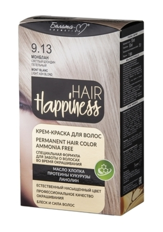 Белита-М Hair Happiness Крем краска для волос №9.13 Монблан Светлый блондин пепельный
