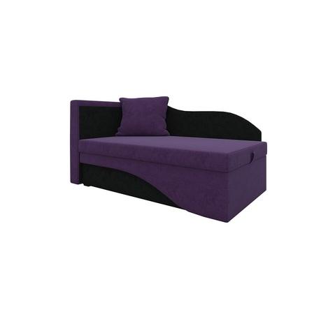 Кушетка Грация вельвет фиолетовый+черный