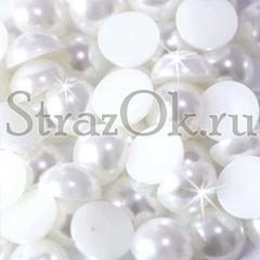 Купите оптом полубусины, полужемчуг белый жемчужный на StrazOK.ru