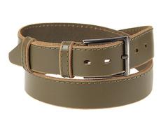 8245-6 ремень кожаный мужской, зеленый
