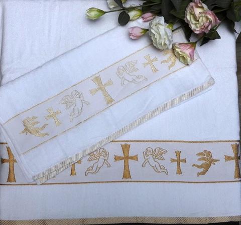 Набор полотенец  2шт для крещения Gold