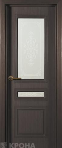 Дверь Крона Стиль, цвет венге, остекленная