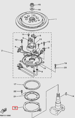 Прокладка статора для лодочного мотора Т30 Sea-PRO (8-18)