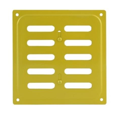 Решетка с заслонкой (заглушкой) 200х200 мм Золото