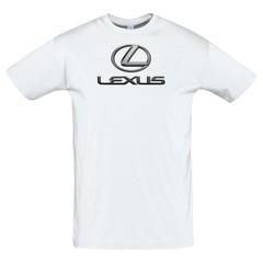 Футболка с принтом Лексус (Lexus) белая