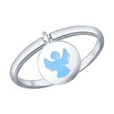 Кольцо ангел из серебра с эмалью