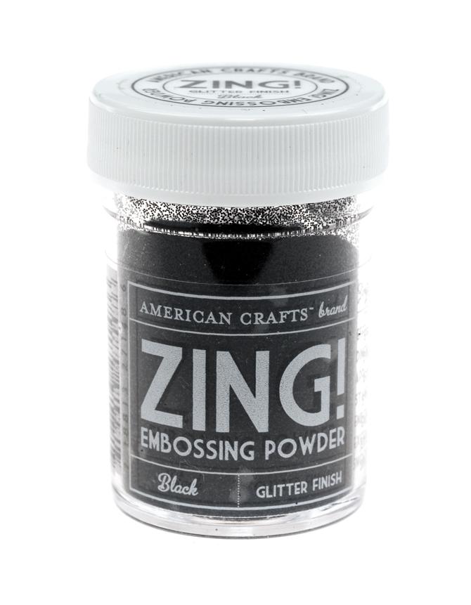 Пудра для эмбоссинга ZING! Black Glitter
