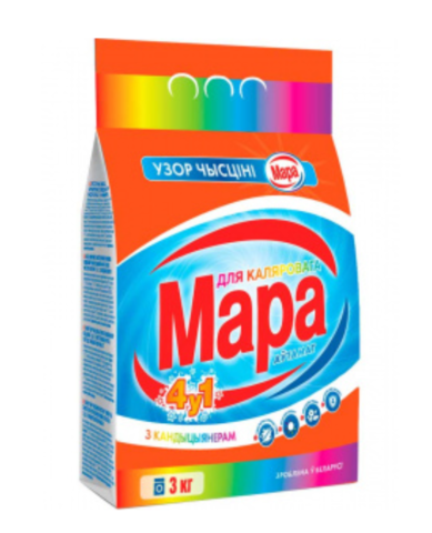 Сонца Мара Стиральный порошок для цветного 4 в 1  Автомат 3кг