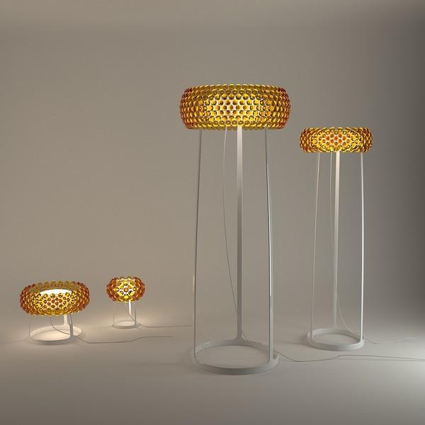Foscarini Caboche Floor Lamp Orange