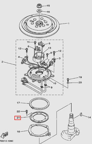 Кольцо статора для лодочного мотора Т30 Sea-PRO (8-21)