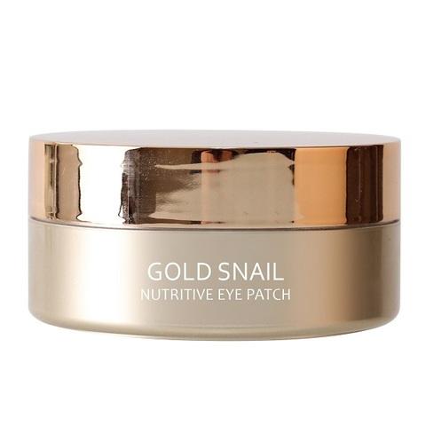 Патчи гидрогелевые для глаз подтягивающие с муцином улитки и золотом Medi Flower Gold Snail Nutritive Eye Patch 60шт