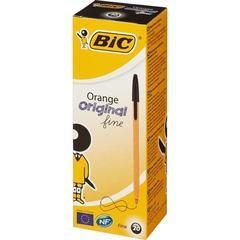Ручка шариковая BIC Orange 20шт/уп черный 0,35мм Франция