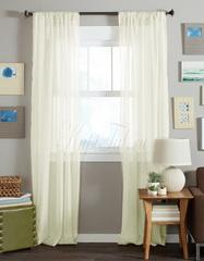 Длинные шторы. Тюль вуаль Classic Voile-2 (creme)