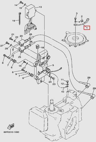Стопор основания магнетто для лодочного мотора Т30 Sea-PRO (9-1)