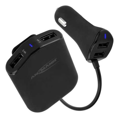 Автомобильное зарядное устройство для USB устройств ANSMANN 9,6А