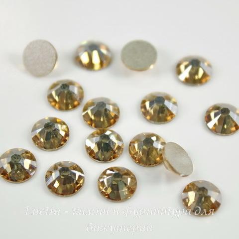 2058 Стразы Сваровски холодной фиксации Crystal Golden Shadow ss 20 (4,6-4,8 мм), 10 штук
