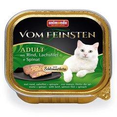 Animonda vom feinsten adult для взрослых кошек говядина, лосось, шпинат 100 гр