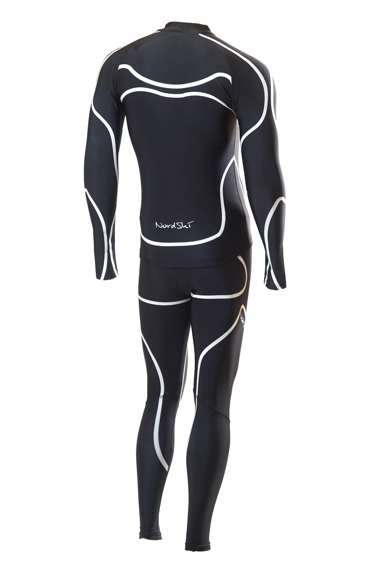 Детский лыжный гоночный комбинезон Nordski Premium (NSV112102) черный фото спина