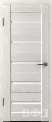 > Экошпон Владимирская фабрика дверей Лайн-1 Л1ПГ5, стекло белое, цвет беленый дуб, остекленная