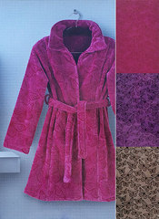 Халат велюровый Carrara Farfalle фиолетовый