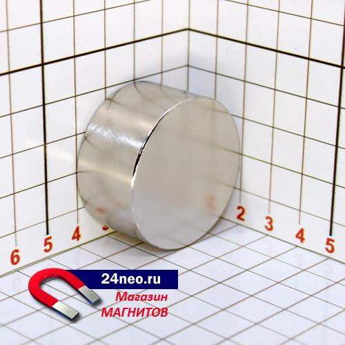 Неодимовый магнит диск 40х20 мм