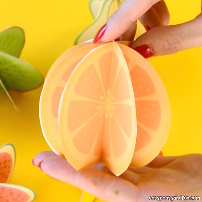 МК Объемные фрукты из бумаги