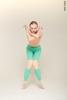 Комплект размера M: купальник Молния + штаны с телесными элементами