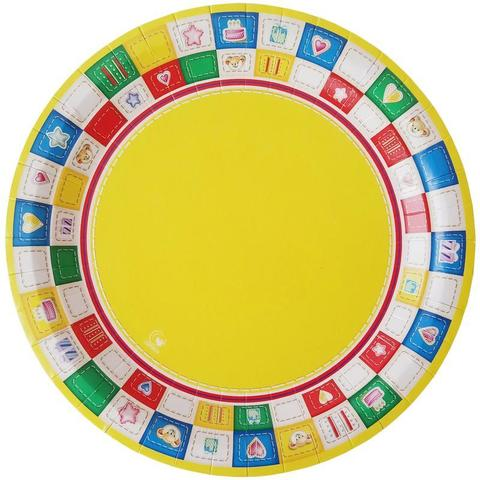 Тарелка одноразовая бум. d-230мм Пикник, 10шт/уп