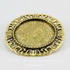 Основа для броши с сеттингом для кабошона 25 мм (цвет - античное золото)