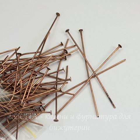 Комплект пинов - гвоздиков 50х0,8 мм (цвет - античная медь), 20 гр (примерно 90 шт)