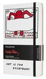 Блокнот Moleskine Limited Keith Haring Large 130х210мм 240стр нелинованный белый (LEKH01QP062)