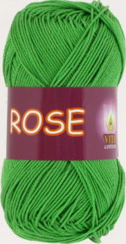 Пряжа Rose (Vita cotton) 3935 Молодая зелень