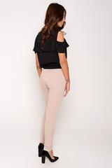 Классические зауженные брюки. Застежка на пуговице и молнии (Длина 100 см)
