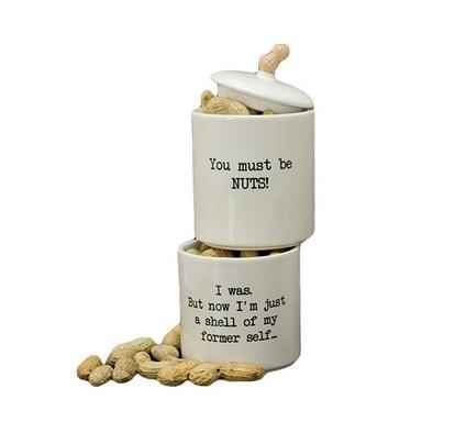 Хранение продуктов Набор банок 2 шт Boston Warehouse Stacking Snack Jar коричневый 1.jpg