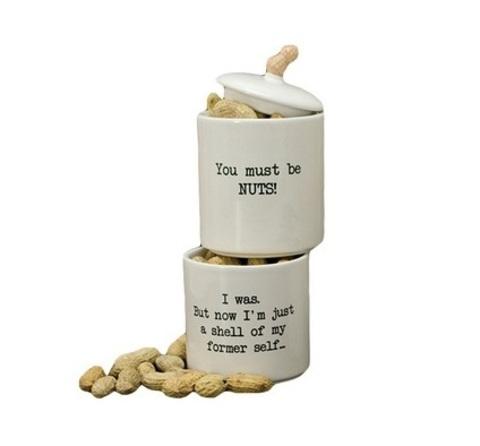 Набор банок 2 шт Boston Warehouse Stacking Snack Jar коричневый