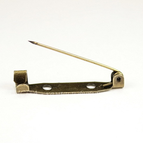 Основа для броши 29х5,5 мм (цвет - античная бронза)