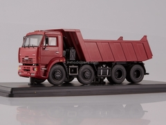 KAMAZ-6540 8x4 tipper early burgundy 1:43 Start Scale Models (SSM)