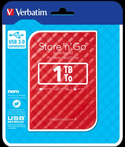 Внешний жесткий диск 1TB Verbatim Store 'n' Go Style, 2.5