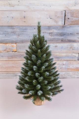 Искусственная елка Женева 90 см в мешочке заснеженная