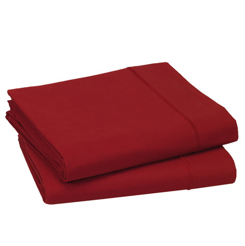 Простыня прямая 240x300 Blanc des Vosges сатин красная