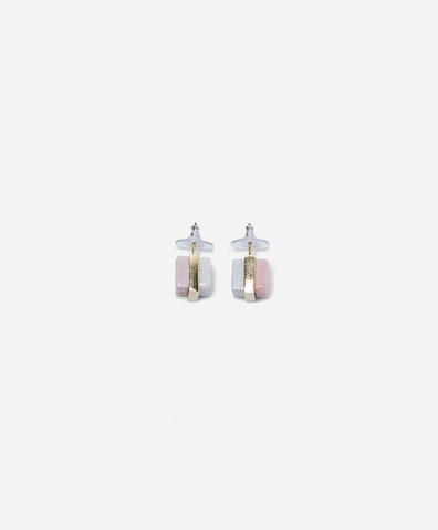 Серьги Pawn Stud Pink&White