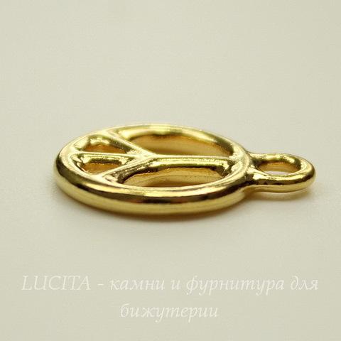 """Подвеска TierraCast """"Пацифик"""" (цвет-золото) 15х12 мм"""