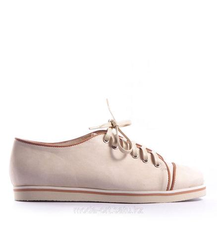 Кеды на шнурках из натуральной кожи