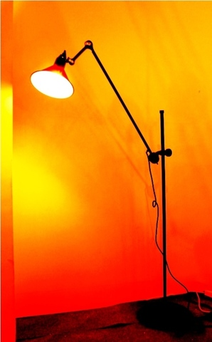 replica G. LAMPE   215 floor lamp ( black+brass )