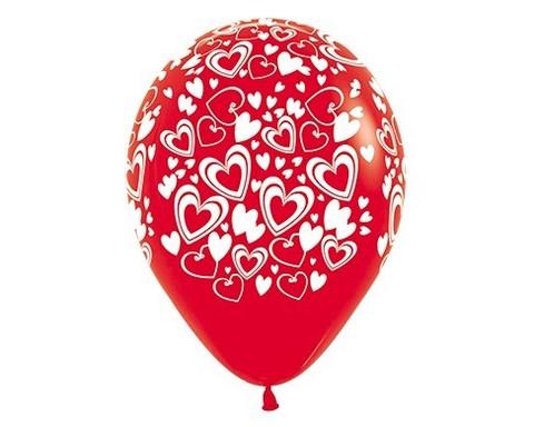 Шар с Двойными Сердцами (Красный)