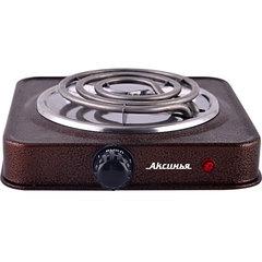 Плита электрическая настольная 1-конфорочная АКСИНЬЯ КС-005 коричневая