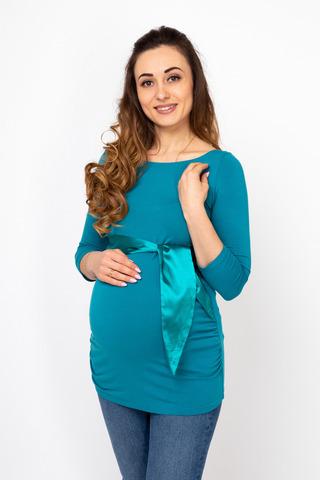 Блузка для беременных 01200 зеленый