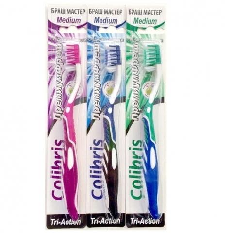Colibris Зубная щетка средняя жесткость 0935