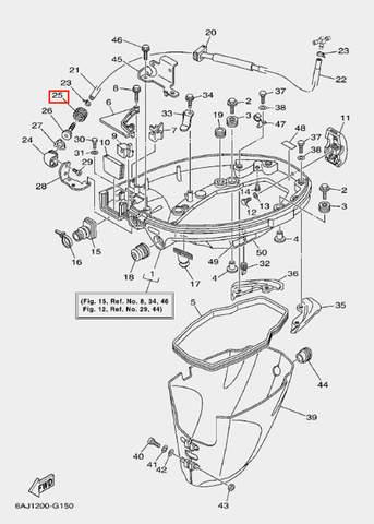 Соединитель трубки для лодочного мотора F20 Sea-PRO (15-25)
